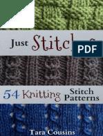 Just Stitches 54 Knitting Stitch Patterns