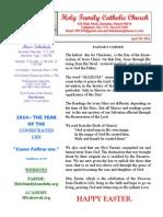 easter sunday 2014 bulletin 1