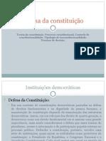 Defesa da constituição
