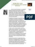 Teoría del Caos hacia el conocimiento de la realidad-REPORTAJES-DIVULGACIÓN CIENTIFICA