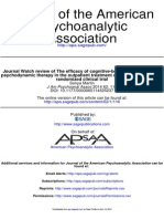 11 Journal Watch Review of the Efficacy of Cognitive-behavioral Therapy and Psychodynamic Therapy in the Outpatient Tre