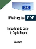 Indicador CEMEC do Custo de Capital Próprio - Método 3 - Workshop