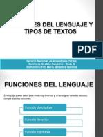 Funciones Del Lenguaje y Tipos de Textos