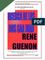 103711966 Acerca de Los Dos San Juan Rene Guenon
