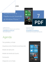 Arquitectura de La Plataforma de Desarrollo de Windows Phone7!21!06 13