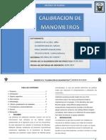 Reporte N3 - Calibración de Manómetros - Córdova, Escandón, Raraz, Ticlavilca