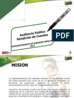 04 Rendicion de Cuentas 2012 Supersubsidio