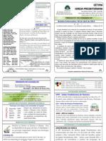 175 Boletim Informativo 06 de Abril de 2014