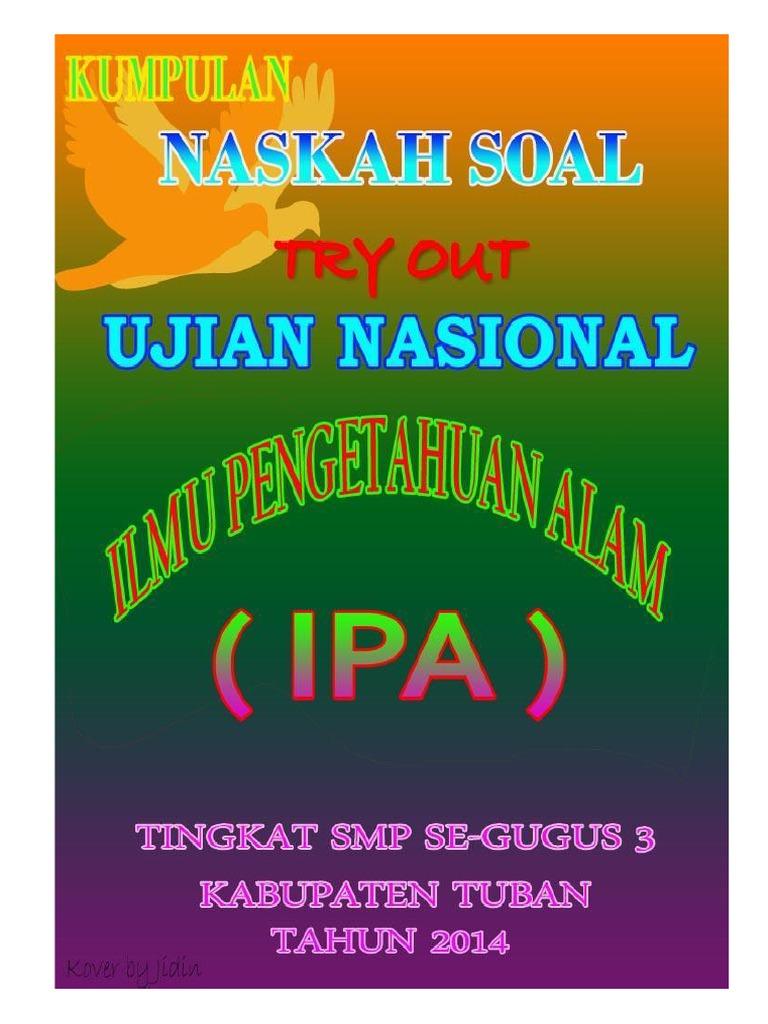 Kumpulan Naskah Soal T O Un Ipa Smp Gugus 3 Kabupaten Tuban Tahun 2014