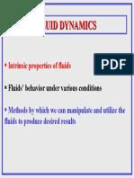 Fluid Dynamics Lecture I