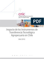 Impacto de Los Instrumentos de TransferenciaTecnologica Agropecuaria en Chile