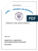Morality and Death Penalty