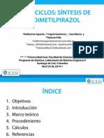 Exposición de la síntesis de 3,5-dimetilpirazol