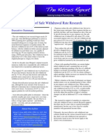 March 2012 issue of The Kitces Report - 20 Years of Safe Withdrawal Rate Research