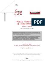 Final Agenda for the World Conference of Screenwriters