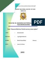Informe III-Automatizacion-sensores Electricos,Final de Carrera,Sensor Optico