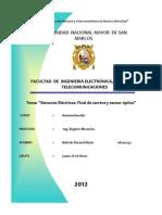 Informe III-Automatizacion-sensores Electricos,Final de Carrera,Sensor Optico-ultimo