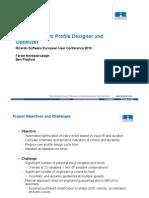 Automated Cam Profile Designer and Optimizer