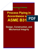 Asme b31.3 Training Seminar