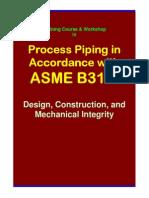 Asme b31.3 Training Seminar