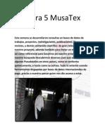 Bitácora 5 MusaTex