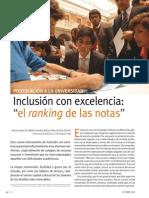 Inclusión con excelencia El ranking de notas
