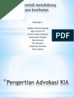 Advokasi Untuk Mendukung Upaya-upaya Kesehatan (2)