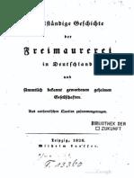 1828 - Vollständige Geschichte der Freimaurerei (LAUSSER, Wilhelm)