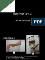 Osce Pro III Trial Question