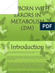 Newborn with errors in Metabolism - Diabetes Mellitus