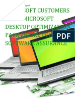 Microsoft Customers using Microsoft Desktop Optimization Pack 2011R2 for Software Assurance - Sales Intelligence™ Report