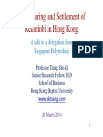 The Clearing and Settlement of Renminbi in Hong Kong