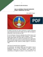 LA FUNDACIÓN DE LAS JUVENTUDES COMUNISTAS DE  CHILE