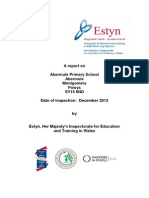 inspection report abermule primary school 2012 english only