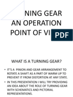 Turning Gear an Operation Point of View