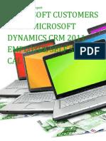 Microsoft Customers using Microsoft Dynamics CRM 2011 Employee Self Service CAL - Sales Intelligence™ Report