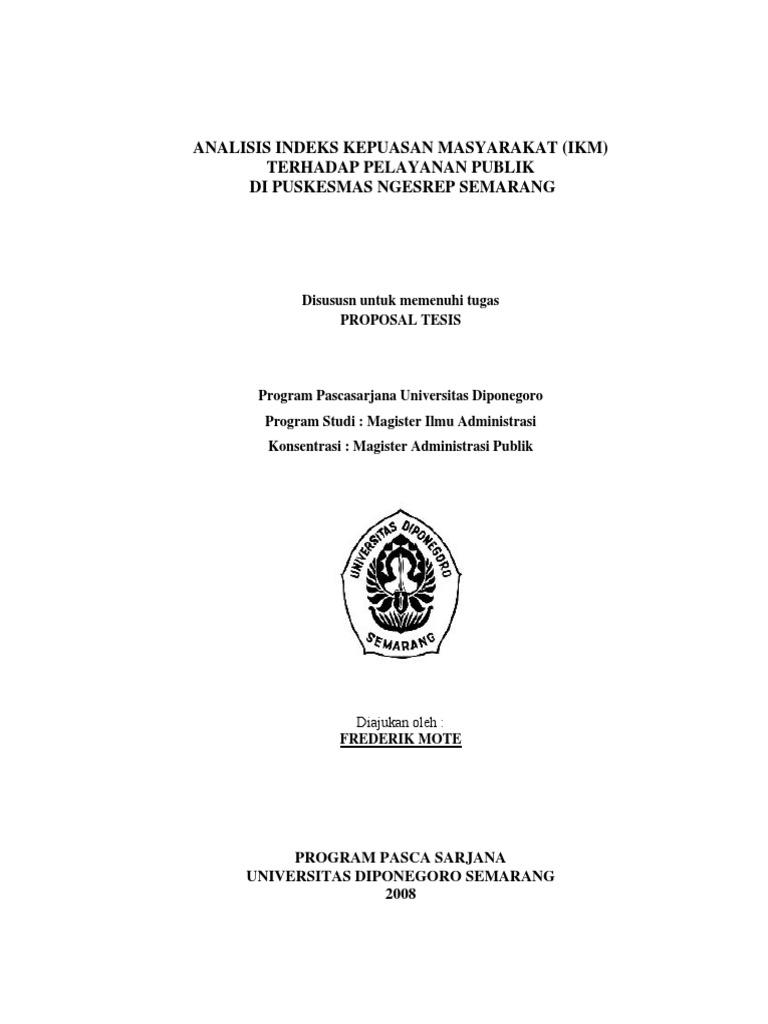 Skripsi Administrasi Publik Ide Judul Skripsi Universitas
