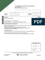 Bio a-level Paper