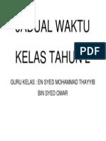 JADUAL WAKTU