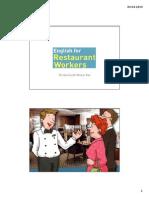 RestaurantWorkers INTRODUCTION