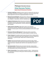 Critical Success Factors Supervisory