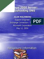 Tshooting DNS and Exchange 2000