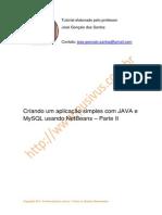 A Plic Simples Java Mysql Parte i i