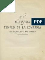 Chile, Historia del Templo de la Compañia de Santiago
