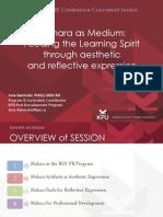 Mahara as Medium presentation at Cohere 2013 by June Kaminski