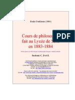 Cours Philo Emile Durkheim 2