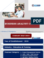 Business Analyst Course @ First CADD, Jayanagar, Bangalore