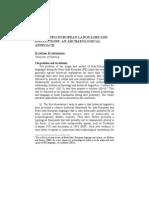 Proto-Indo-european Languages and Institutons-kristian Kristiansen
