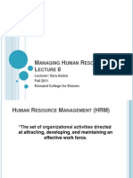 8- Managing Human Resource