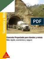 Cocnreto Proyectado Para Tuneles